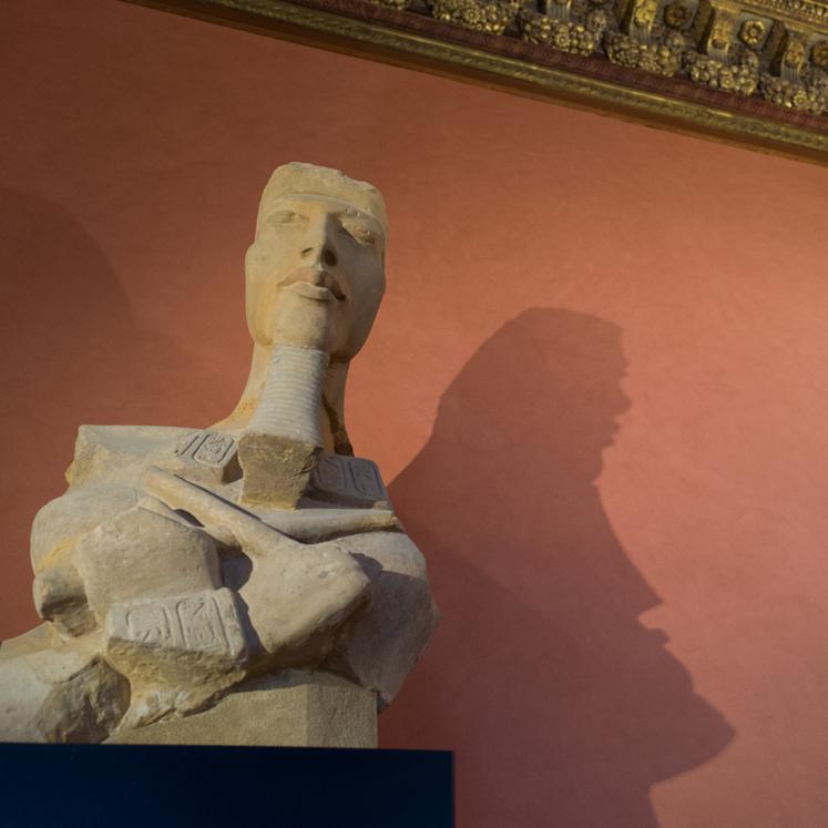 Ein stolzer, steinerner Pharao