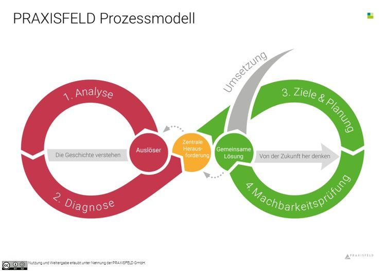 Das PRAXISFELD Prozess-Modell der Liegenden 8 für Beobachtungs- und Reflexionsprozesse