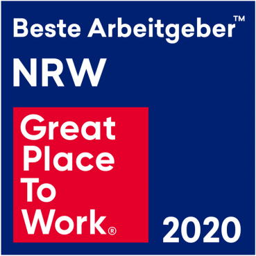 Logo Great Place to Work 2020, Beste Arbeitgeber NRW