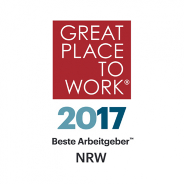 Logo Great Place to Work® 2017, Beste Arbeitgeber NRW; Bildrechte: Great Place to Work Deutschland GmbH