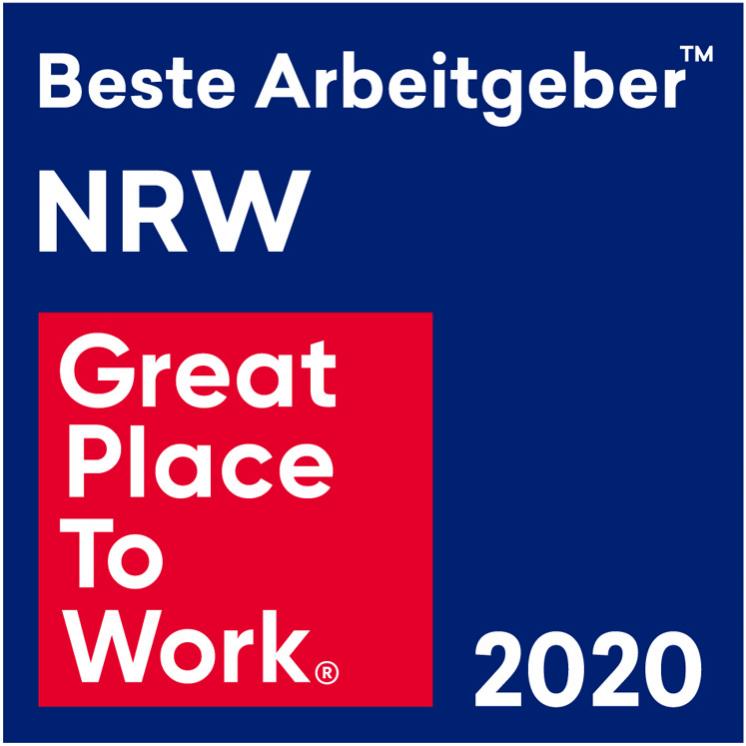 Logo Great Place to Work 2020, Beste Arbeitgeber NRW