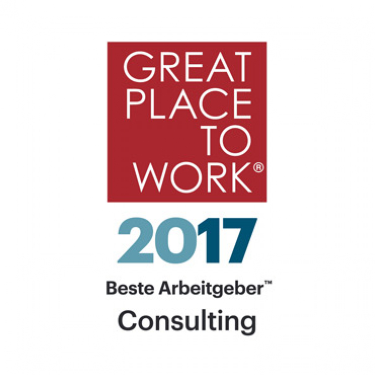 Logo Great Place to Work® Consulting 2017; Bildrechte: Great Place to Work Deutschland GmbH