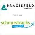 Logos PRAXISFELD Teamevent und schnurstracks Teamevent